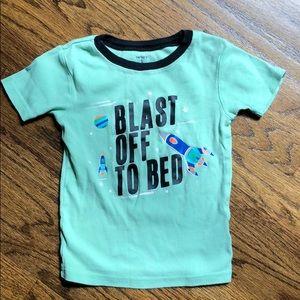 Boys Carters Blast Off To Bed rocket pajama top